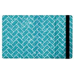 Brick2 White Marble & Turquoise Glitter Apple Ipad Pro 9 7   Flip Case by trendistuff