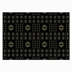 Dark Ethnic Stars Motif Pattern Large Glasses Cloth (2 Side) by dflcprints