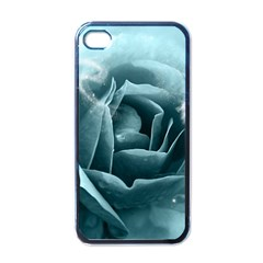 Beautiful Blue Roses With Water Drops Apple Iphone 4 Case (black) by FantasyWorld7