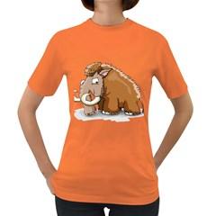 Mammoth Pre Historic Elephant  Women s Dark T Shirt