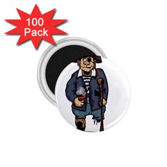 Cute Pirate 1 75  Magnets (100 Pack)  by ImagineWorld