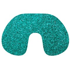 Aqua Glitter Travel Neck Pillows by snowwhitegirl