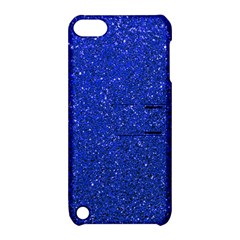 Blue Glitter Apple Ipod Touch 5 Hardshell Case With Stand by snowwhitegirl