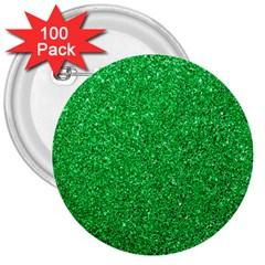 Green Glitter 3  Buttons (100 Pack)  by snowwhitegirl