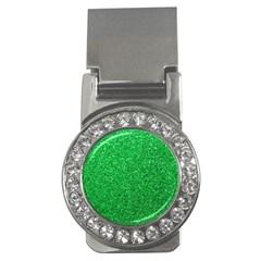 Green Glitter Money Clips (cz)  by snowwhitegirl