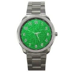 Green Glitter Sport Metal Watch by snowwhitegirl