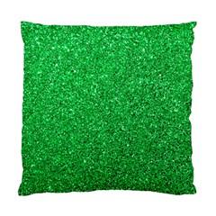 Green Glitter Standard Cushion Case (two Sides) by snowwhitegirl