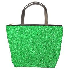 Green Glitter Bucket Bags by snowwhitegirl