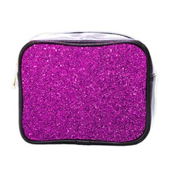 Pink  Glitter Mini Toiletries Bags by snowwhitegirl