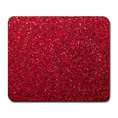 Red  Glitter Large Mousepads by snowwhitegirl