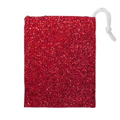 Red  Glitter Drawstring Pouches (extra Large) by snowwhitegirl