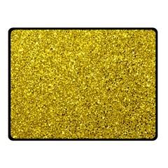 Gold  Glitter Fleece Blanket (small) by snowwhitegirl