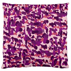Pink Camo Large Flano Cushion Case (two Sides) by snowwhitegirl