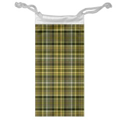 Yellow Plaid Jewelry Bag by snowwhitegirl