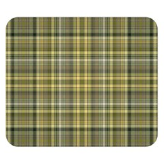 Yellow Plaid Double Sided Flano Blanket (small)  by snowwhitegirl