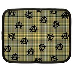 Yellow Plaid Anarchy Netbook Case (xxl)  by snowwhitegirl