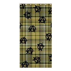 Yellow Plaid Anarchy Shower Curtain 36  X 72  (stall)  by snowwhitegirl