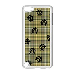 Yellow Plaid Anarchy Apple Ipod Touch 5 Case (white) by snowwhitegirl