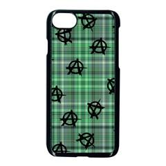 Green  Plaid Anarchy Apple Iphone 8 Seamless Case (black) by snowwhitegirl