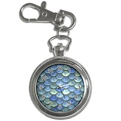 Blue Mermaid Scale Key Chain Watches by snowwhitegirl