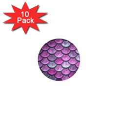 Pink Mermaid Scale 1  Mini Buttons (10 Pack)  by snowwhitegirl