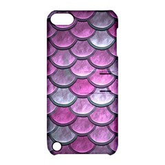 Pink Mermaid Scale Apple Ipod Touch 5 Hardshell Case With Stand by snowwhitegirl