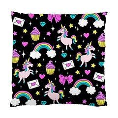 Cute Unicorn Pattern Standard Cushion Case (two Sides) by Valentinaart