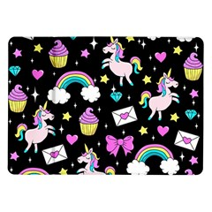 Cute Unicorn Pattern Samsung Galaxy Tab 10 1  P7500 Flip Case by Valentinaart