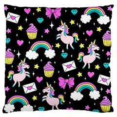 Cute Unicorn Pattern Standard Flano Cushion Case (one Side) by Valentinaart