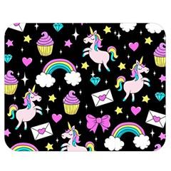 Cute Unicorn Pattern Double Sided Flano Blanket (medium)  by Valentinaart