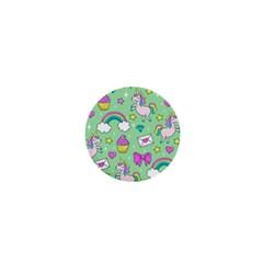 Cute Unicorn Pattern 1  Mini Buttons by Valentinaart
