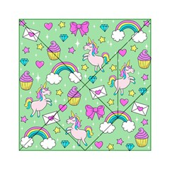Cute Unicorn Pattern Acrylic Tangram Puzzle (6  X 6 ) by Valentinaart