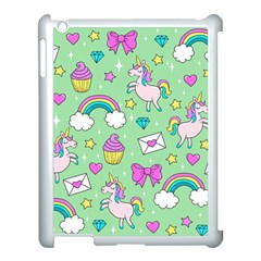 Cute Unicorn Pattern Apple Ipad 3/4 Case (white) by Valentinaart
