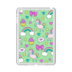 Cute Unicorn Pattern Ipad Mini 2 Enamel Coated Cases by Valentinaart