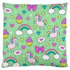 Cute Unicorn Pattern Standard Flano Cushion Case (one Side) by Valentinaart