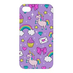 Cute Unicorn Pattern Apple Iphone 4/4s Premium Hardshell Case