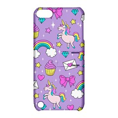 Cute Unicorn Pattern Apple Ipod Touch 5 Hardshell Case With Stand by Valentinaart