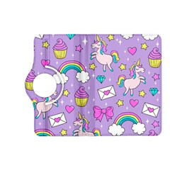 Cute Unicorn Pattern Kindle Fire Hd (2013) Flip 360 Case by Valentinaart
