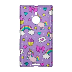 Cute Unicorn Pattern Nokia Lumia 1520 by Valentinaart