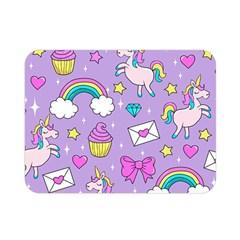 Cute Unicorn Pattern Double Sided Flano Blanket (mini)  by Valentinaart