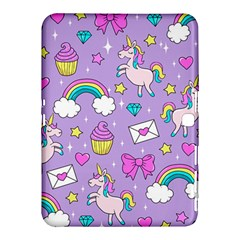 Cute Unicorn Pattern Samsung Galaxy Tab 4 (10 1 ) Hardshell Case  by Valentinaart