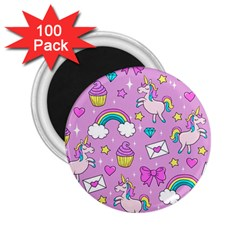 Cute Unicorn Pattern 2 25  Magnets (100 Pack)  by Valentinaart