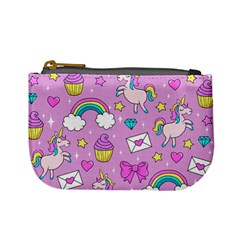 Cute Unicorn Pattern Mini Coin Purses by Valentinaart