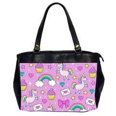 Cute Unicorn Pattern Office Handbags (2 Sides)  by Valentinaart