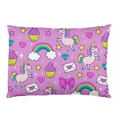 Cute Unicorn Pattern Pillow Case (two Sides) by Valentinaart