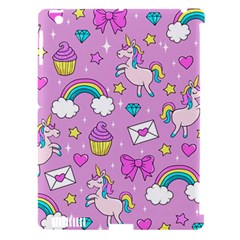 Cute Unicorn Pattern Apple Ipad 3/4 Hardshell Case (compatible With Smart Cover) by Valentinaart