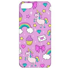 Cute Unicorn Pattern Apple Iphone 5 Classic Hardshell Case by Valentinaart