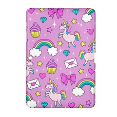 Cute Unicorn Pattern Samsung Galaxy Tab 2 (10 1 ) P5100 Hardshell Case  by Valentinaart