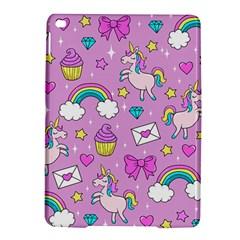 Cute Unicorn Pattern Ipad Air 2 Hardshell Cases by Valentinaart