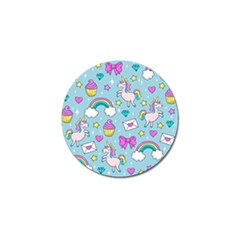 Cute Unicorn Pattern Golf Ball Marker (10 Pack) by Valentinaart